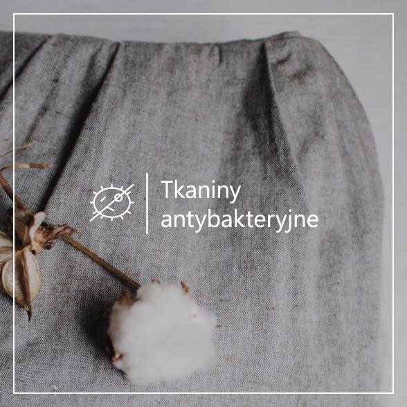 Tkanina bawełniana antybakteryjna z jonami srebra